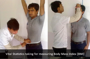Vital Statistics taking for measuring Body Mass Index [BMI]