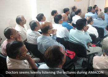 Doctors seems keenly listening the lectures during AMACON