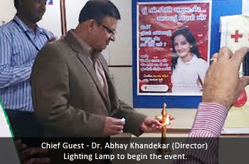 Chief Guest - Dr. Abhay Khandekar (Director) Lighting Lamp to begin the event