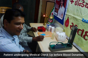 Patient undergoing Medical Check Up before Blood Donation