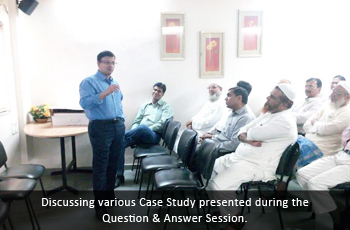 Discussing various Case Study presented during the Question & Answer Session.
