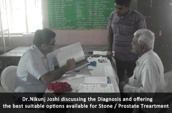 Dr. Nikunj Joshi discussing the Diagnosis and offering the best suitable options available for Stone / Prostate Treartment