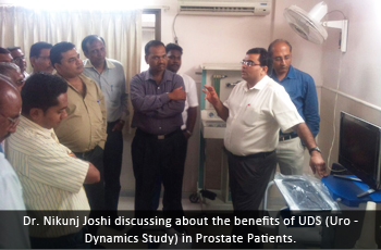 Dr. Nikunj Joshi discussing about the benefits of UDS (Uro - Dynamics Study) in Prostate Patients.