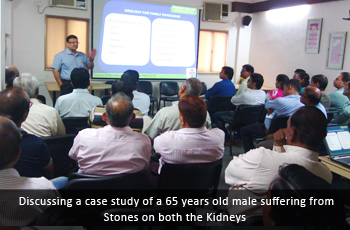 Discussing a case study of a 65 years old male suffering from Stones on both the Kidneys