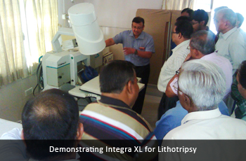 Demonstrating Integra XL for Lithotripsy